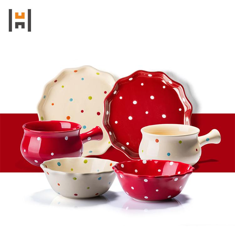 Nuevos productos esmaltados, vajilla de gres colorido, vajilla de cerámica