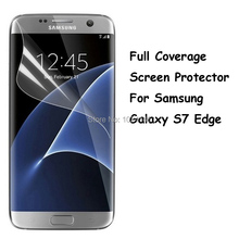 New Full Coverage Clear Soft TPU Film Screen Protector For Samsung Galaxy S7 Edge G9350, Cover Curved Parts (Not Tempered Glass)