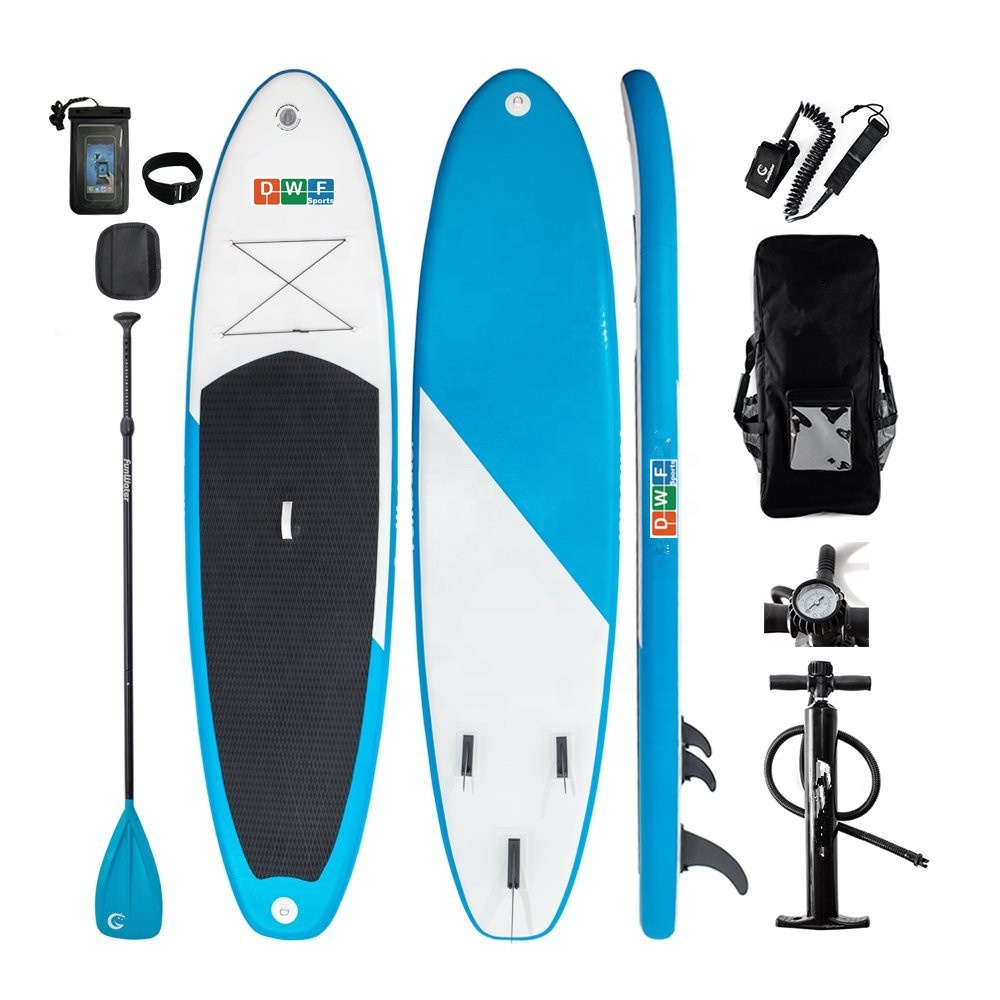 Vendita calda ISUP gigante gonfiabile stand up paddle board includono bordo di spuma e yoga sup made in China