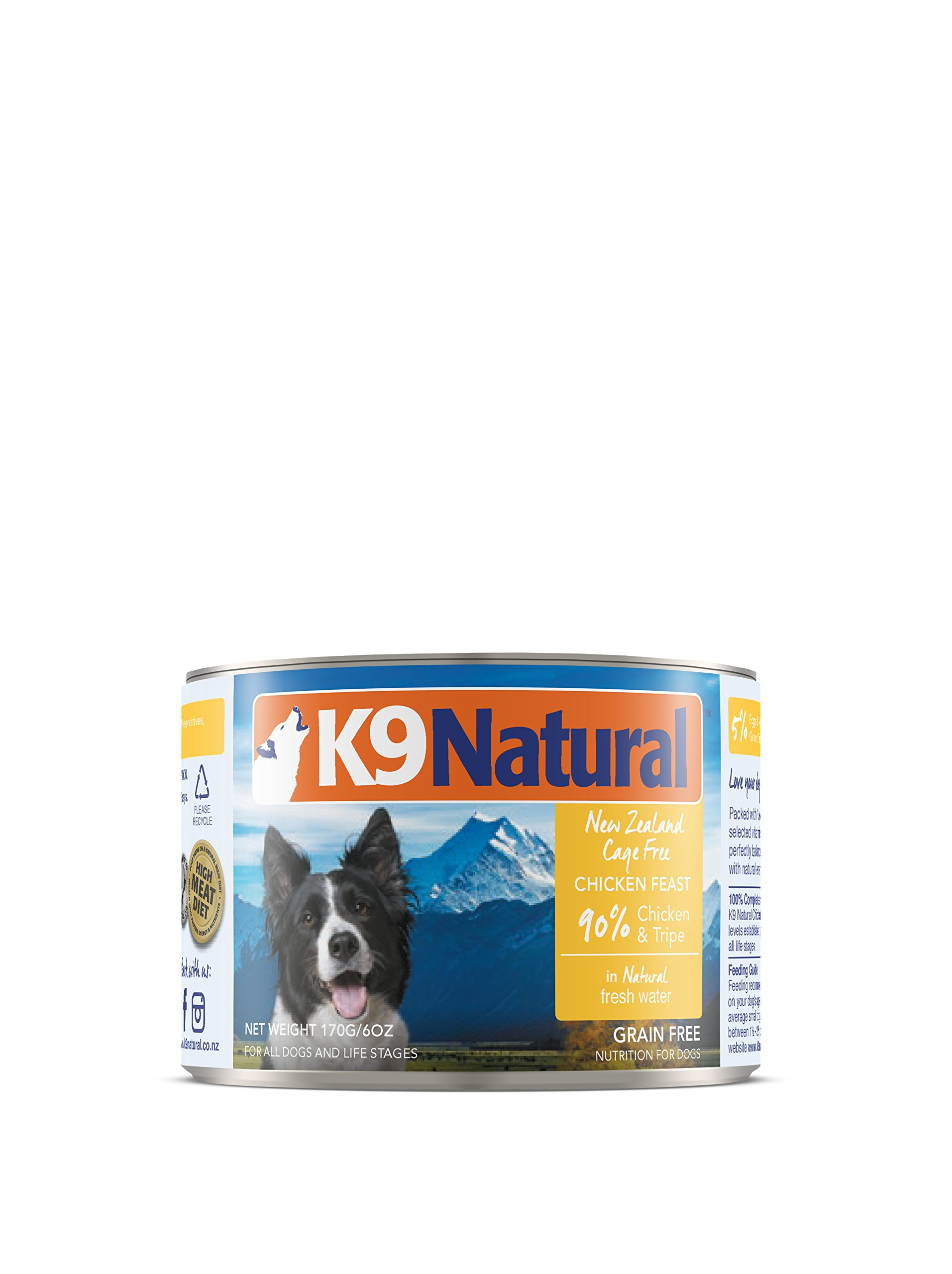 K9 Natural Canned Dog Food By Perfect Grain Free, Healthy, Hypoallergenic Limited Ingredients - Made in New Zealand - BPA-Free Wet Dog Food - Nutrition For All Dog Types