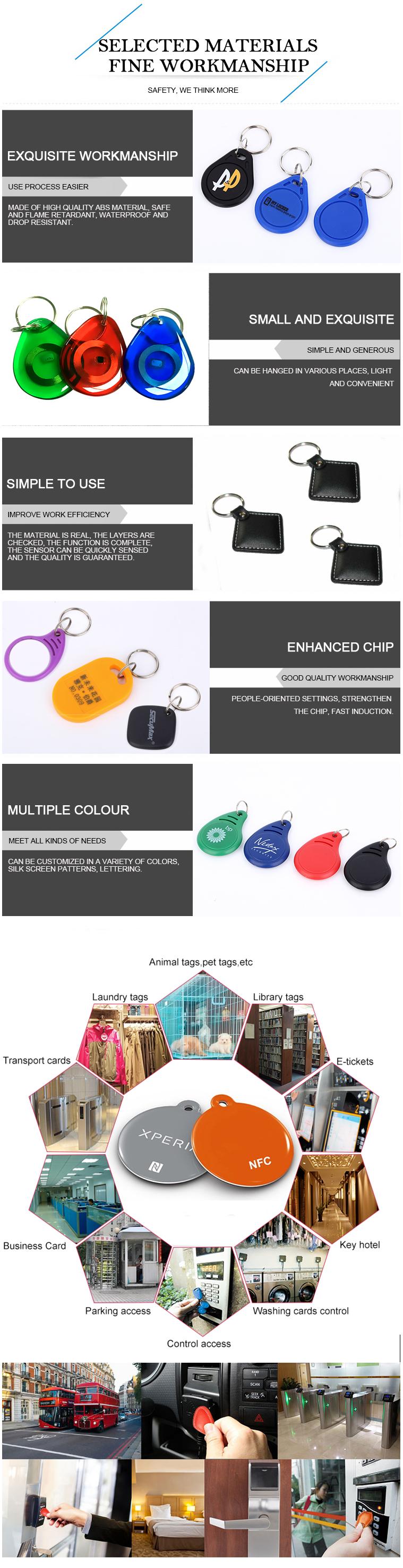 Low Price ABS 13.56MHz Classic 1K/4K RFID NFC ABS Key Fob