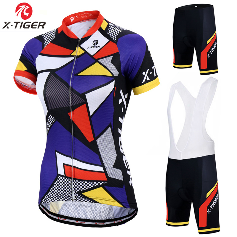 Pro Women Cycling Jersey Summer Anti-UV Cycling Bicycle Clothing Cycling clothes