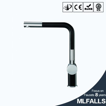 Fashion Home Kitchen Swivel Faucet All Copper Hardware Faucet Black Basin  Hot And Cold Water Faucet
