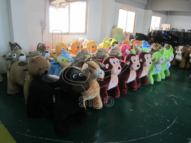 Wholesale kid toy animal riding plush animal electric scooter