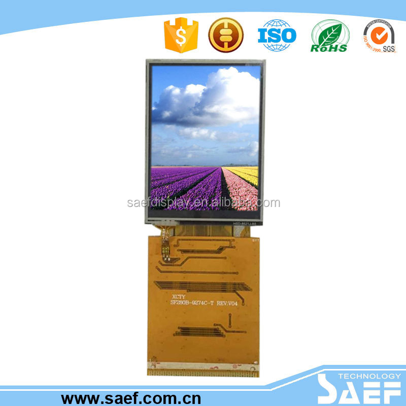 IPS type All sight viewing 2.8 inch TFT lcd module with RTP