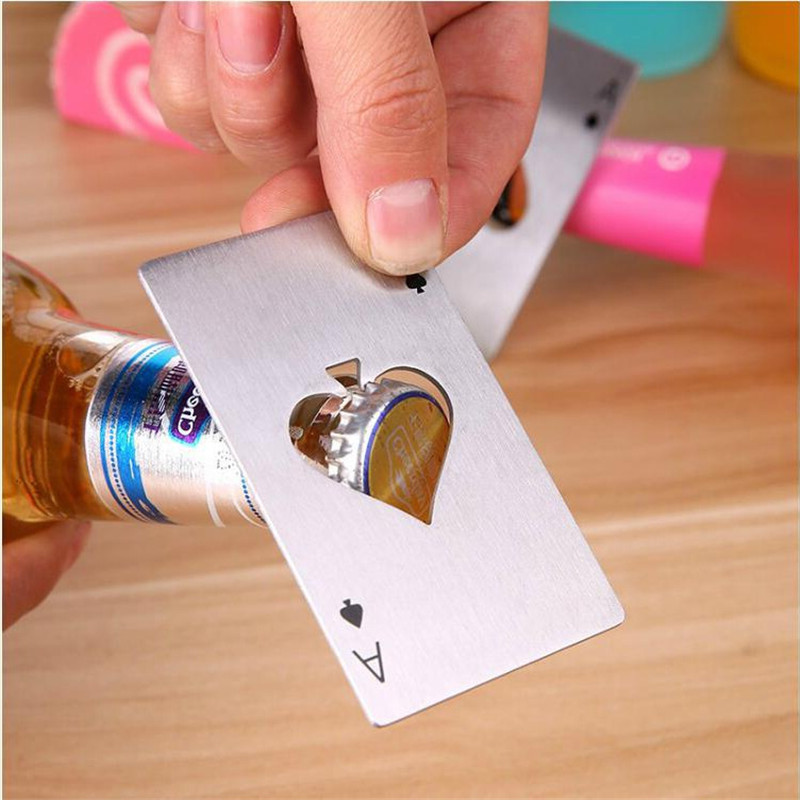 Novelty spades A poker opener stainless steel bottle opener Beer opener
