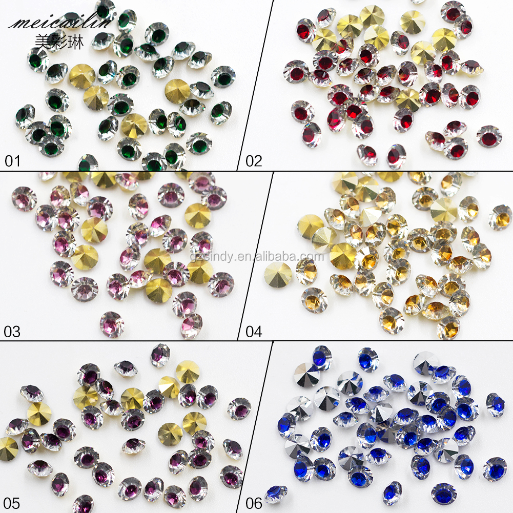 Latest Nail Decoration Diamond Color Shining sharp Bottom Rhinestone