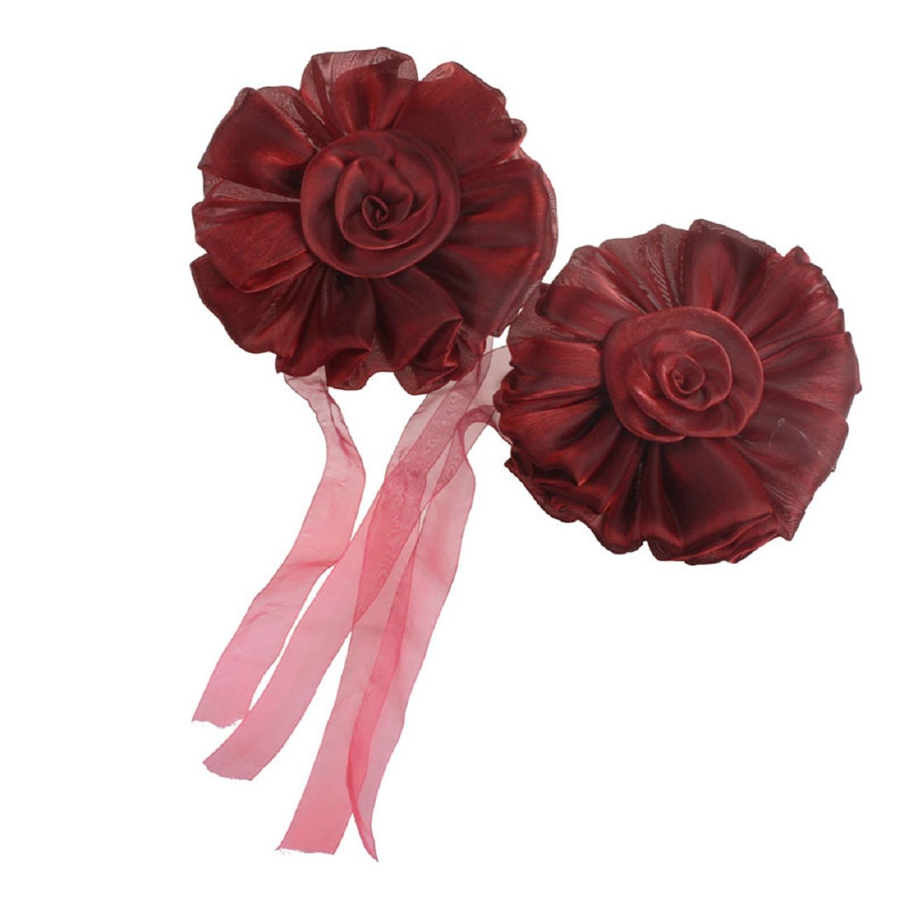 Cheap flower pair find flower pair deals on line at alibaba get quotations tonsee 1pair rose flower window curtain tieback buckle clamp hook fastener decor red izmirmasajfo