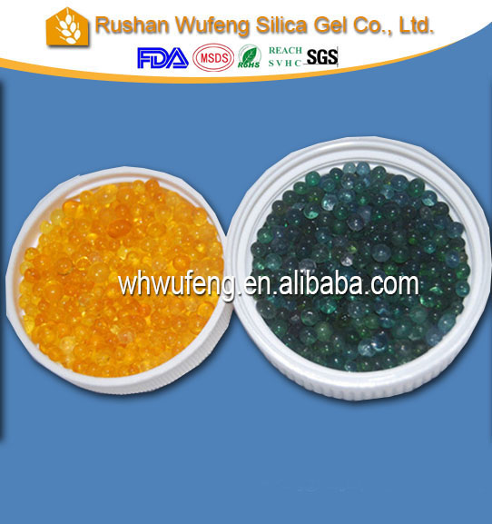 dmf free silica gel orange color changeable indicating desiccant for moisture adsorption