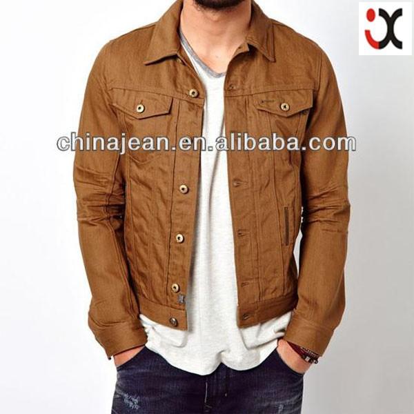Men Jeans Jacket For Men Khaki Denim Jacket Mens's Denim Jacket ...