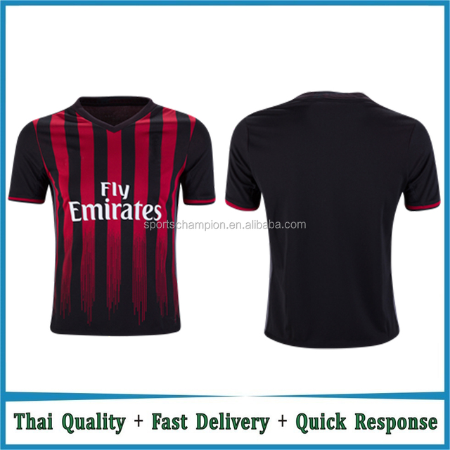 Free Shipping 2016/17 AC Soccer Jerseys Milan Football Shirts