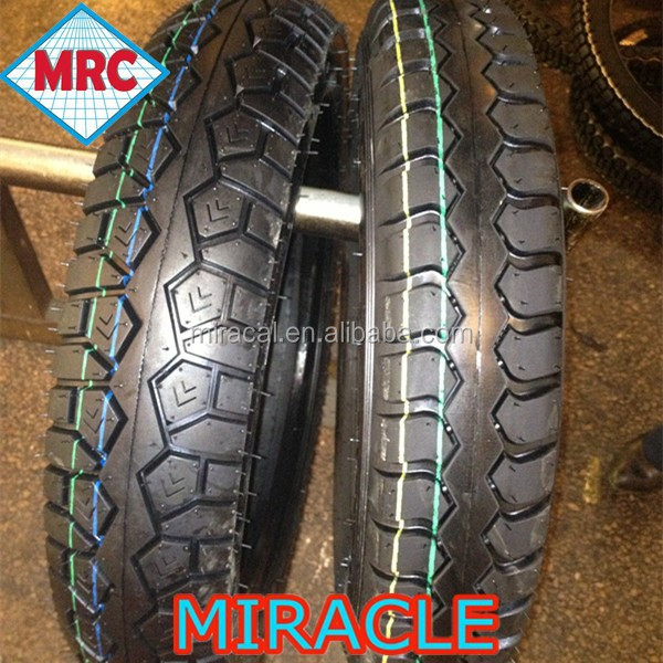 Fashional pattern rubber motorcycle tyre wholesale 450-12
