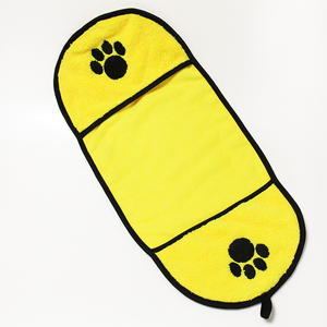 Microfiber Pet Towel Dog Bath Towel with Pocket