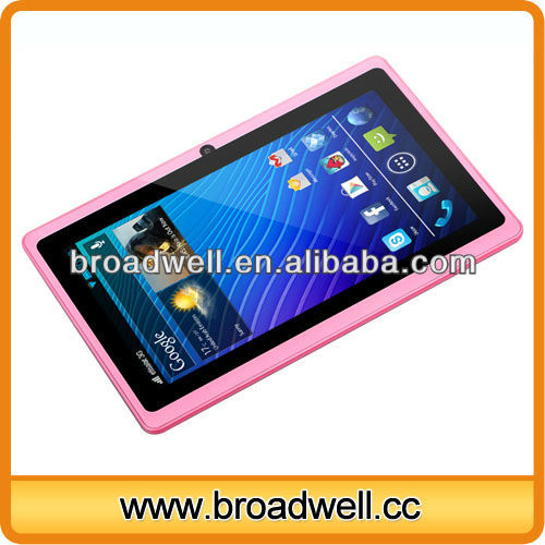 Best selling cheapest Android 4.0 Allwinner A13 7 inch q8 tablet pc