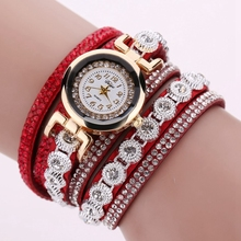 Watch 2018 relogio masculino Hours Horas Women Quartz PU Leather Rhinestone Bracelet Watches