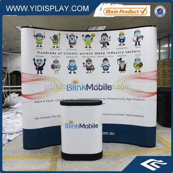 8ft Concave Exhibit Booth Pop Up Displays For Trade Shows