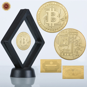 Hot Sale 24K Gold Bitcoin Coin with Custom Display Frame 999 Collectible Bit Coin For Gifts