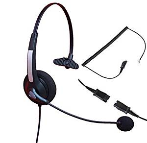 Audicom Call Center Telephone RJ Headset Noise Cancelling Headphone with Mic and Quick Disconnect for Grandstream GXP14XX GXV3275 IP Phones