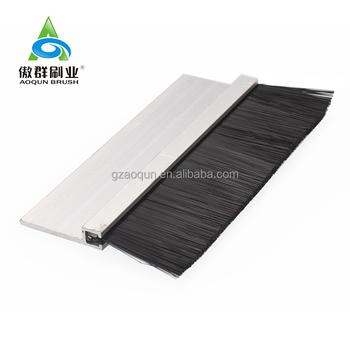 Anti Static Nylon Brush Aluminum Garage Door Sweeps Bottom Brush