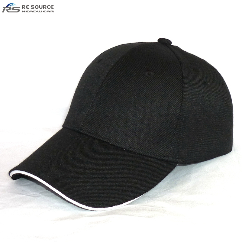 db372c1b56a Wholesale Cheap 100% Polyester Acrylic Plain Black Sandwich Structured Baseball  Cap - Buy Cheap Sandwich Caps