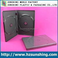 Double Dual DVD / CD Black Media Cases - Standard 14mm Spine