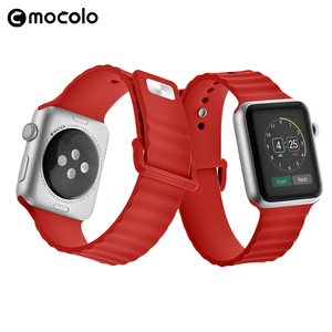 Mocolo Silicone Wrist Strap Rubber Customized Color Logo Watchband for Apple Watch