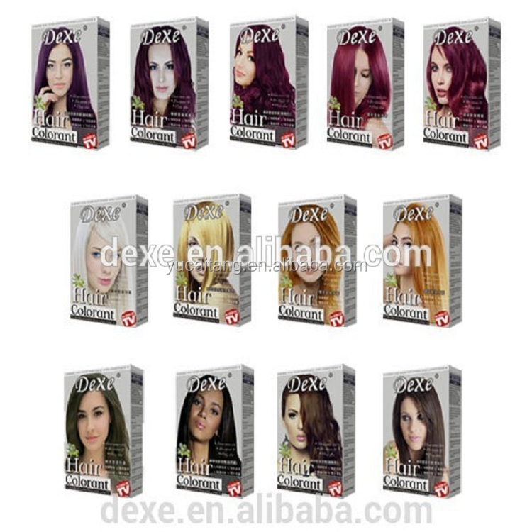 Anti Allergy Colourful Shiny Permanent Hair Color Creamammonia Free