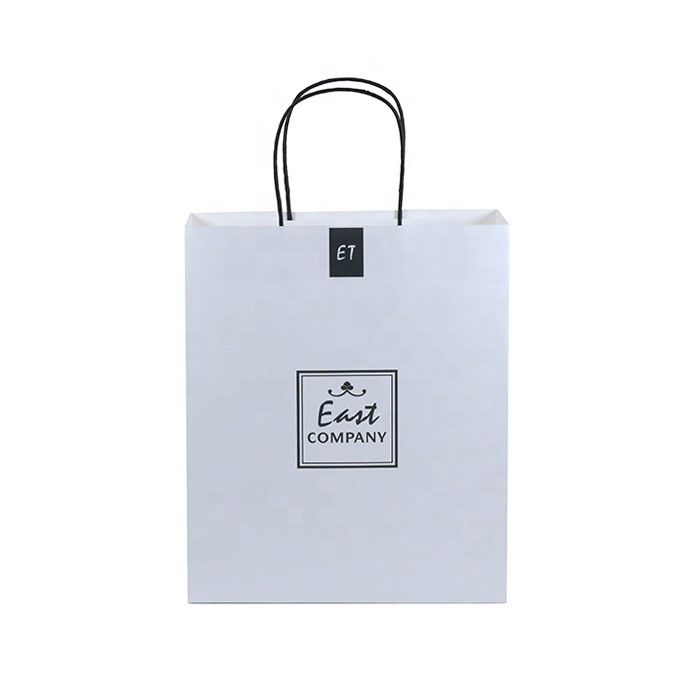 Wholesale Cheap Price Luxury Famous Brand Gift Custom Printed White Kraft Shopping Paper Bag With Your Own Logo