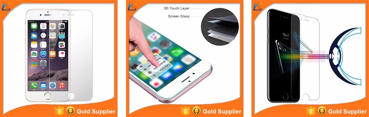 Hot Sell red color mobile phone blue light filter screen protector tempered glass for red iphone 7 plus / 7 screen protector