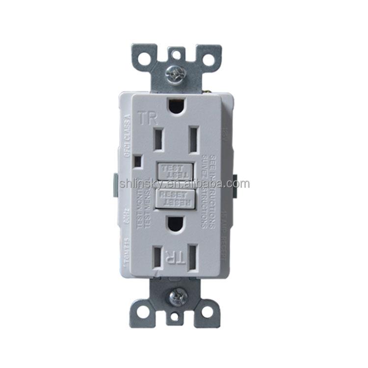Ul Listed Gfci Outlet Receptacle 15-amp (tamper-resistant) Duplex ...