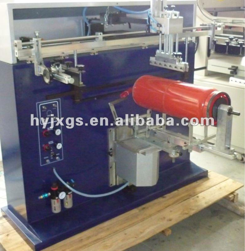 fire extinguisher pneumatic cylindrical screen printer