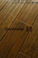 SH Hickory V-groove laminate flooring 12mm