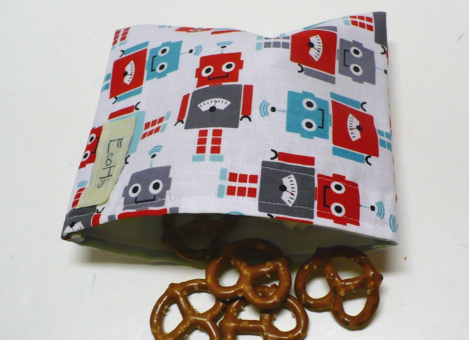 Reusable Snack Bag Eco-Friendly - Robots