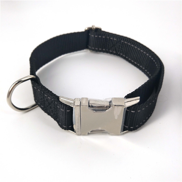 Wholesale Prices Metal Buckle Pet Collars Classic Reflective Nylon Dog Collar