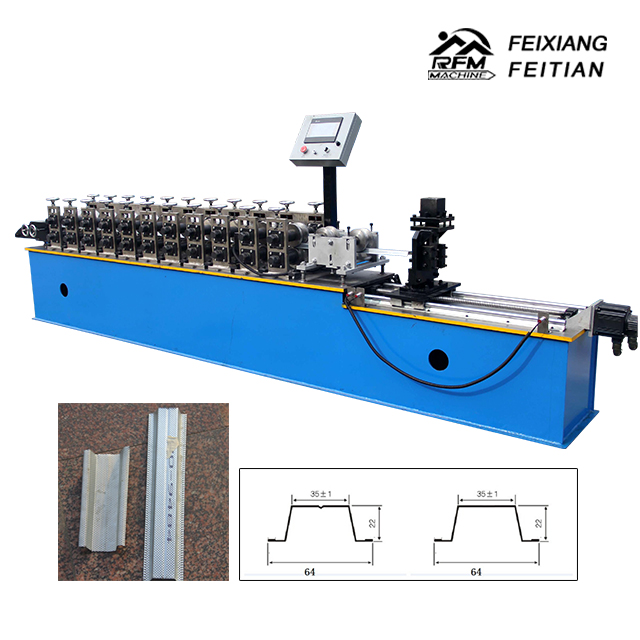 Gypsum Board Ceiling Steel Furring Channel Making Machine Omega Channel Roll Forming Machine