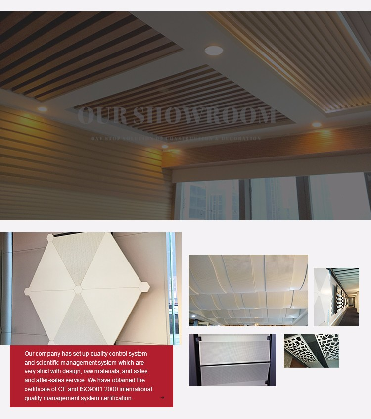 ceiling tile gypsum board beautiful PVC film coated decoration sound and heat insulation
