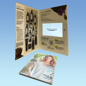 very popular 7inch video brochure with 256MB, 1GB ,2GB built-in memory