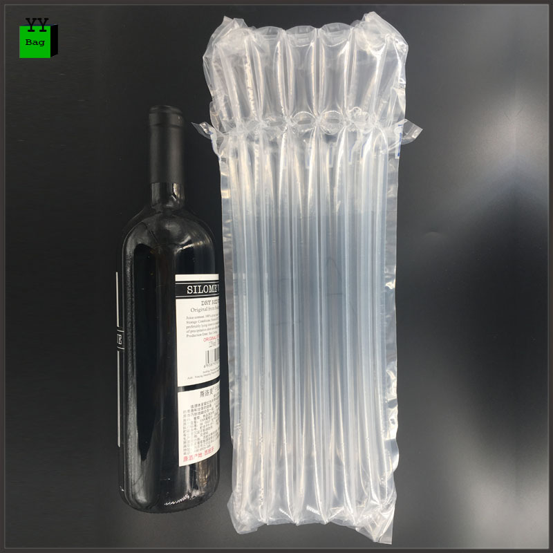 7 columns transparent protective cushion inflatable air bags packaging for wine