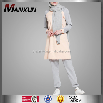 Muslim Women Sport Wear Fashion Style Long Sleeve Islamic Clothing High Quality Ethnic Sport Suit