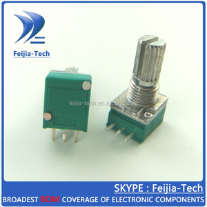 RK097N switch audio amplifier sealed potentiometer B100K 15MM 3Pin with nuts 100K potentiometer linear
