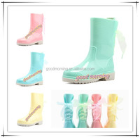 High quality Lace Lacing Monogram Personalized Rain Boots