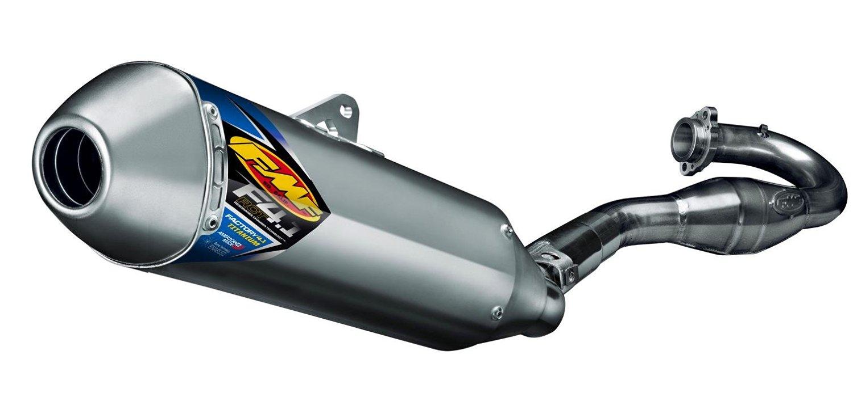 FMF Racing Factory 4.1 RCT Full System - Titanium - Titanium Endcap, Color: Titanium, Material: Titanium 045550