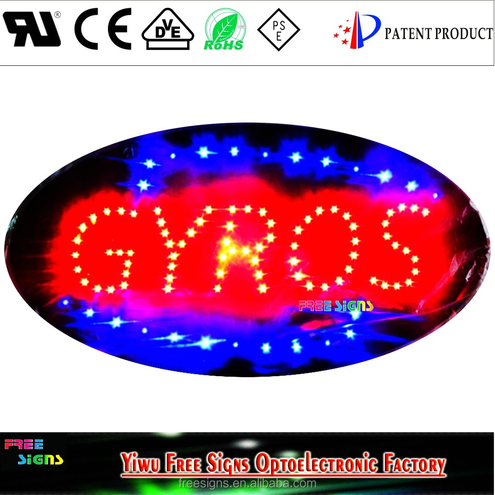 LED gyros sign ,led coffee sign,led pizza sign panel