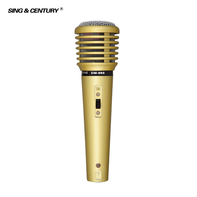 Karaoke DM-995 Plastic Dynamic Mic Wired Speaker Microphone