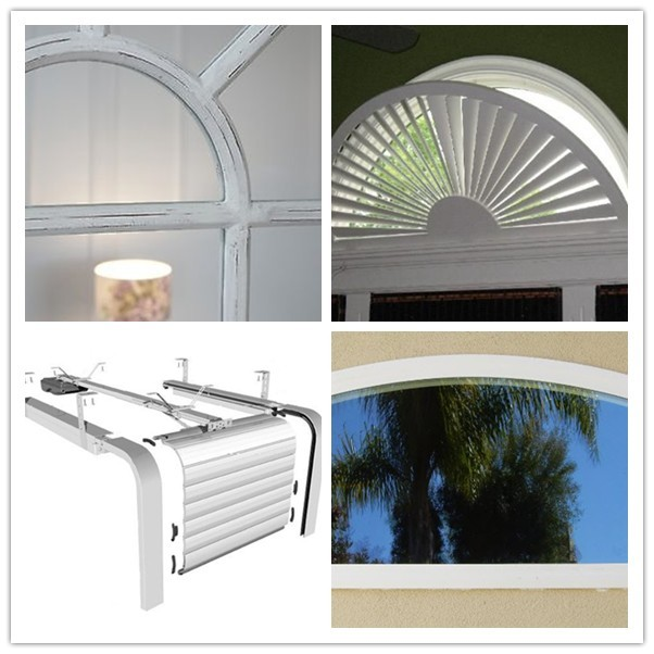 High quality aluminum arched glass round window design for Window design round