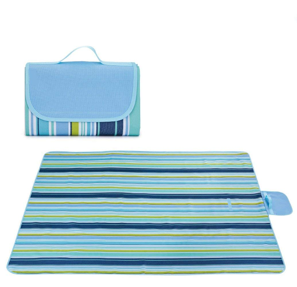 "SheShy Extra Large Picnic Blanket, Waterproof Camping Outdoor Blanket Tote Beach Mat 57""x70""/57""x79"""