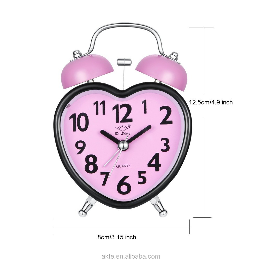Heart Shape Funny Musical Alarming Clock For Adult & Children