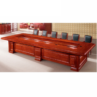 Luxury mahogany Wooden Office Meeting Room Table new design in LA, USA (FOHS-C6018)