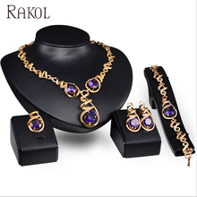 RAKOL <span class=keywords><strong>인도</strong></span> Jewellery <span class=keywords><strong>금</strong></span> Plated Bridal Crystal CZ <span class=keywords><strong>보석</strong></span> 아프리카 Jewelry Sets Woman AS100