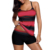 Fashion Bluish Strappy Hollow Out Back Tankini Bulk Swimwear Plus Size